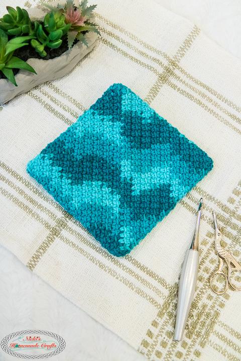 Linked Crochet Potholder Pattern