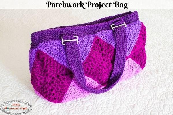 Patchwork Crochet Project Bag