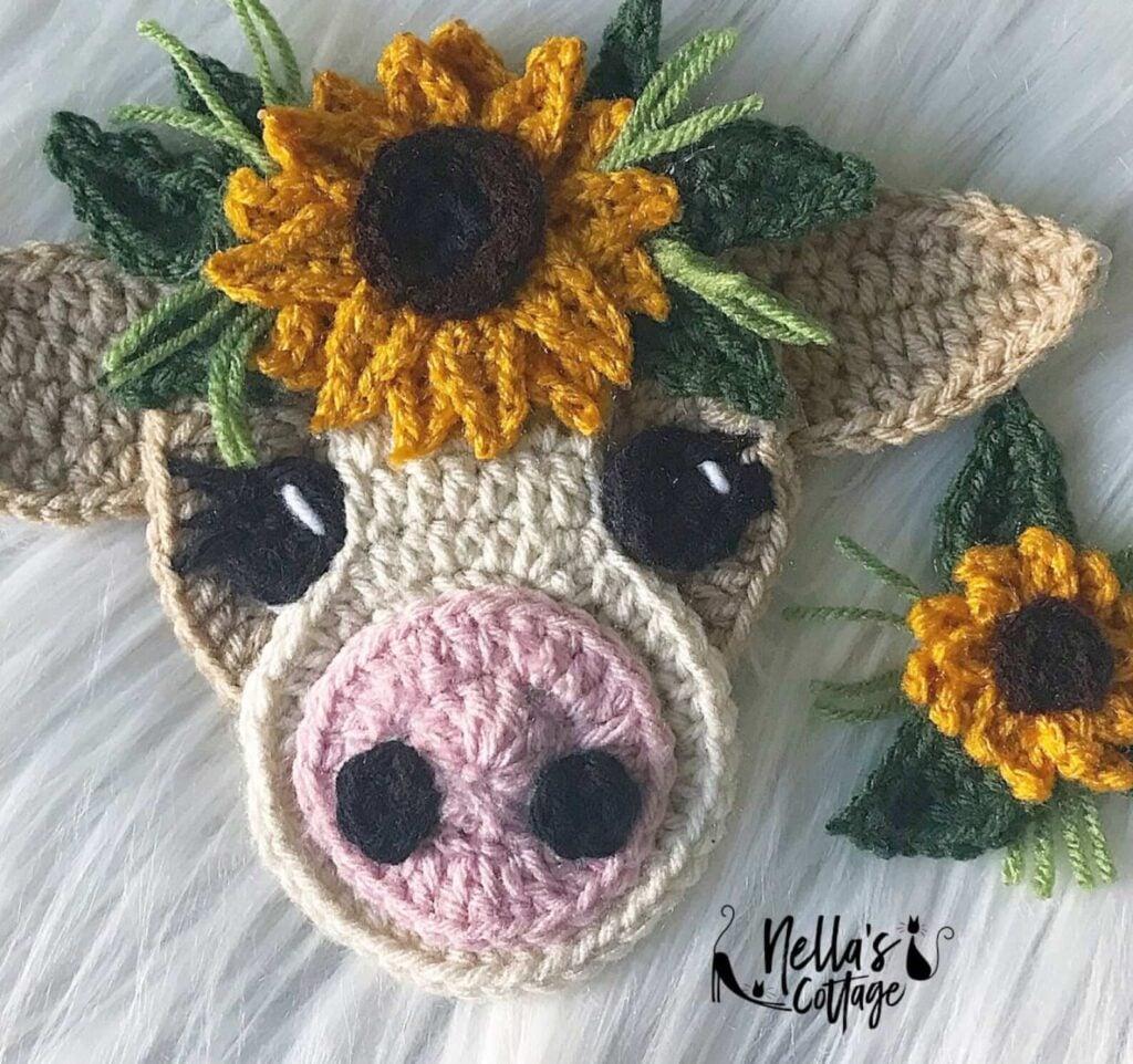 Boho Crochet Cow Pattern