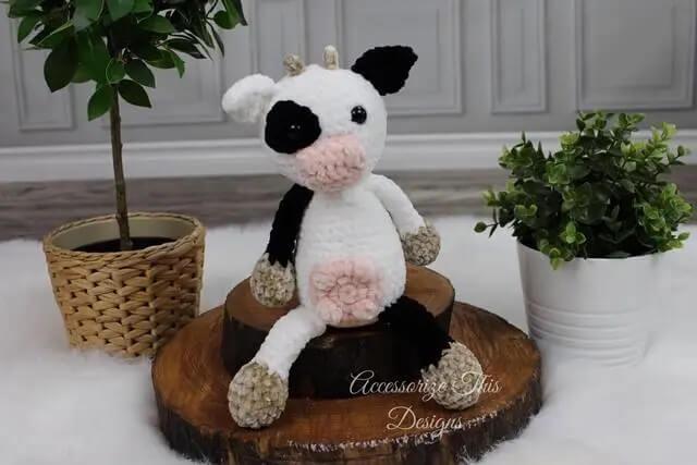 Flip Flop Crochet Cow Pattern