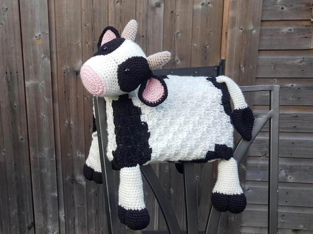 Farm Cow Folding Baby Blanket
