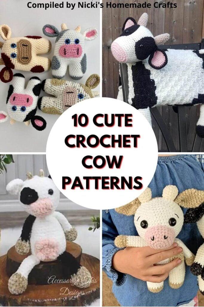 10 Cute Crochet Cow Patterns compilation