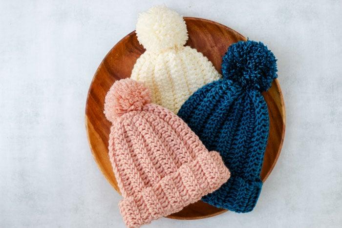 One Hour Crochet Beanie Pattern