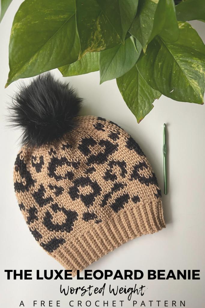 Leopard Crochet Beanie