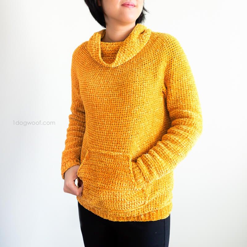 Mysa Velvet Sweatshirt Sweater Crochet