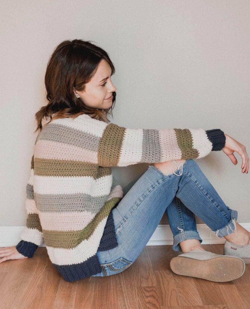 Free Crochet Pattern - Retro Stripes Sweater