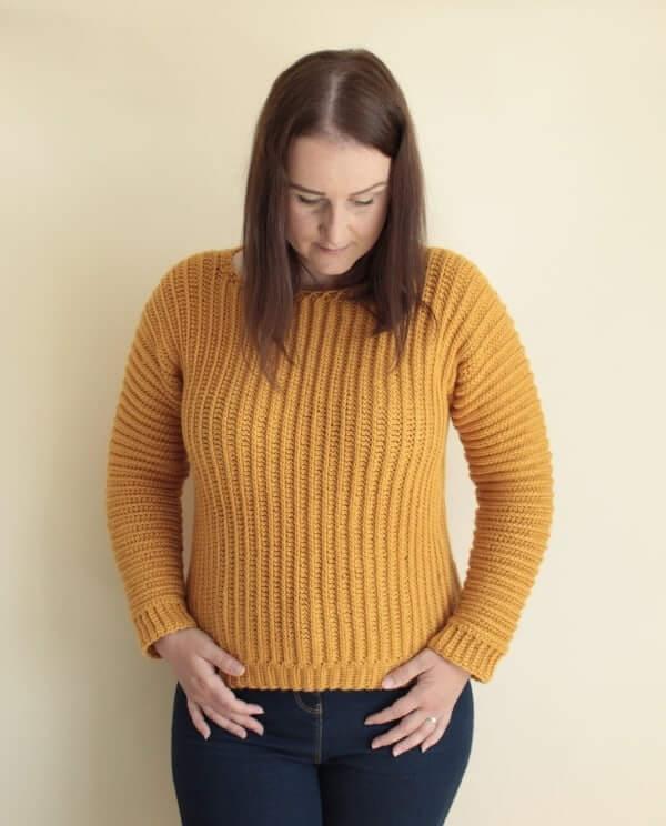 The Sideways Fall Crochet Sweater Pattern