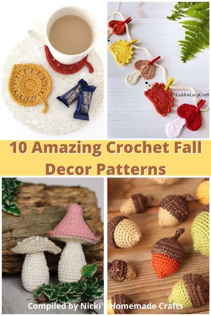 10 incríveis padrões de decoração de outono em crochê