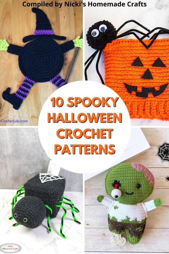 10 padrões de crochê de halloween assustadores para comemorar