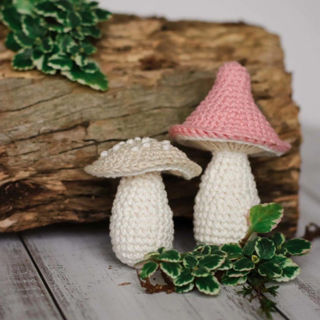 Padrão de Cogumelo de Crochê