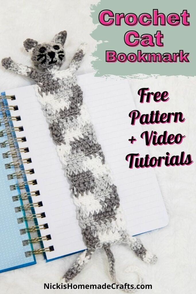 Crochet Cat Bookmark Free Pattern