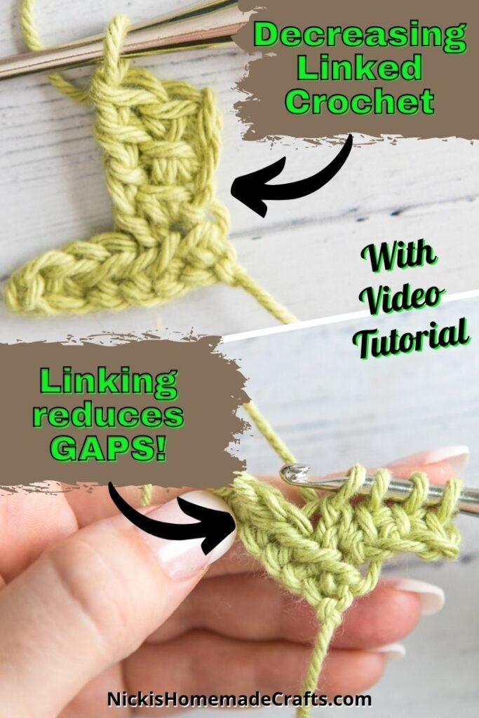 Diminuir pontos de crochê vinculados