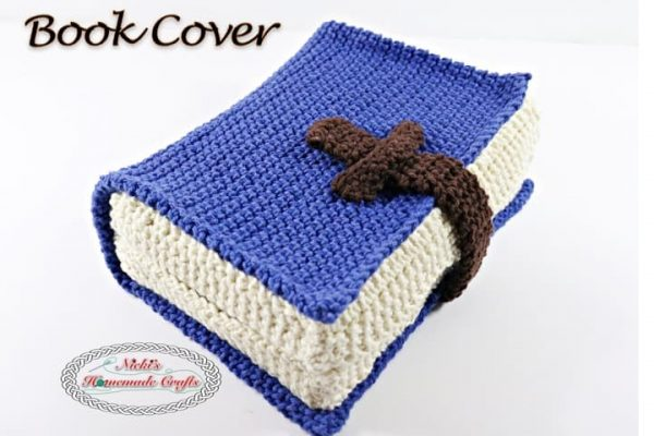.Book Cover TITLE Free Crochet Pattern Nicki's Homemade Crafts~imageoptim